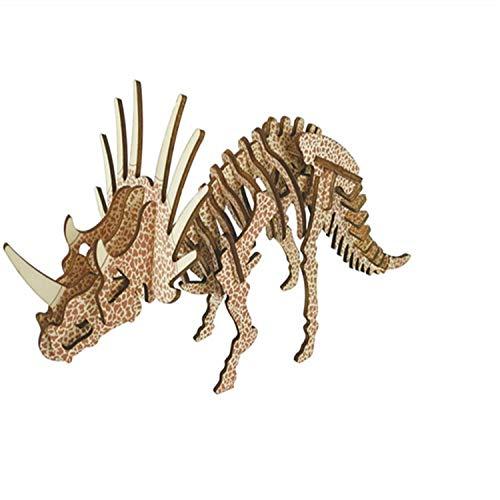 【即出荷】 3D 木製 シミュレーション動物 恐竜組み立てパズル モデル 木製 教育用ギフト 3D 子供と大人用 モデル #S024 B07HJV9BGP, シンプルインテリア:068ca0de --- a0267596.xsph.ru