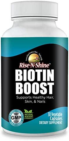 Biotin Boost 10,000 mcg Extra Strength Biotin 10000 mcg Vitamin and Supplements to Support Hair Growth, Skin, Nails and Lashes 30 Count