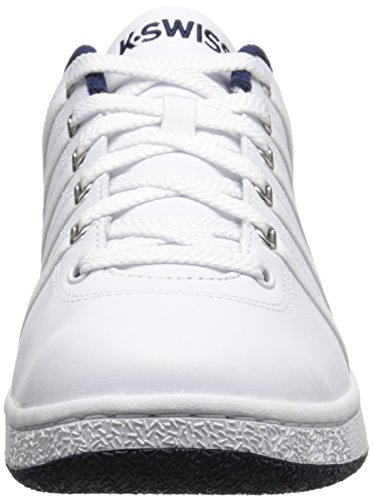 K-Swiss Men's Court LX Lace-Up Shoe, White/Navy, 9 M US ...