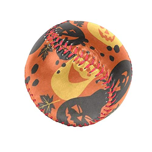 Cartoon Pumpkin Bat Happy Halloween Personalized Low Impact Safety Tee Balls Indoor Baseball or Outdoor Baseballs for League Play, Practice, Competitions, Gifts, Keepsakes, Arts and Craftsophies,