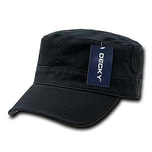 DECKY Flex Cadet Cap, Black