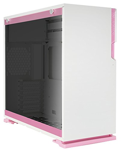 InWin 101 Pink ATX Mid Tower Gaming Computer Case with Tempered Glass White