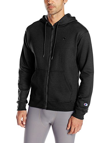 Champion Men's Powerblend Full Zip Hoodie, Black, Large (Champion Amazon compare prices)