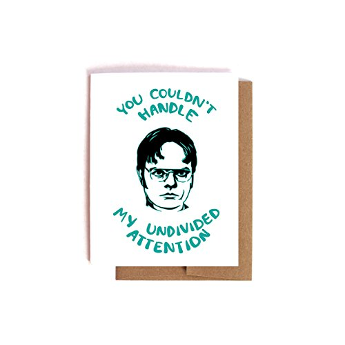 Undivided Attention -- Dwight Schrute The Office Valentine's Day / Anniversary Card