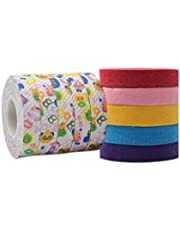 Guzheng Finger Adhesive Tape Accessory 5 Rolls Cartoon Color 5-Roll Multicolored