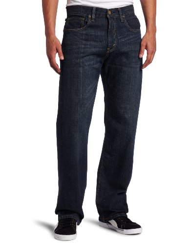 Mens Loose Blue Jeans - 1