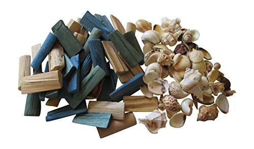 From The Attic Crafts Sea Shells and Wood Bowl Filler Set Beach Decor in Auqa, Seagrass Green and Natural by From The Attic Crafts (Image #7)