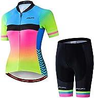 Weimostar Women's Cycling Jersey Shorts Sets Short Sleeve Reflective Breath