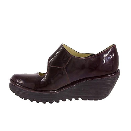 Fly London Women's Yasi682fly Closed-Toe Heels Burgundy Ny6nK