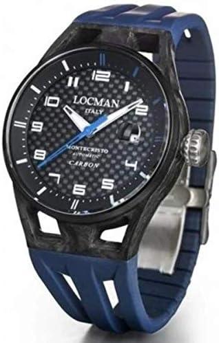 Orologio locman uomo montecristo automatic carbon /  cinturino blu silicone 0544C09S-CBCBWHSB