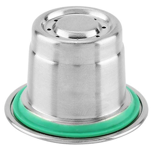 Samfox Coffee Capsule - Stainless Steel Refillable Reusable Coffee Capsule Compatible with Nespresso Coffee Machine