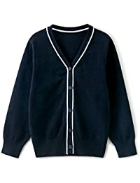 Boys' Cardigan V-Neck Knitted Sweater Fall Button Up School Uniform 4-14Y