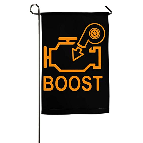WINDST Personalized Boost Check Engine Light Logo Garden Flag 12x18 Inch for Patio,Home,Yard,Outdoor Decorative