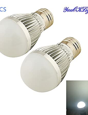 HJLHYL MNDBombillas Globo Regulable / Decorativa YouOKLight B E26/E27 5 W 6 SMD 2835 500 LM Blanco Fresco AC 100-240 V 2 piezas, cool white - - Amazon.com