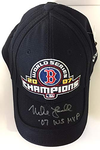 Lowell Cap - Mike Lowell Autographed Baseball Cap
