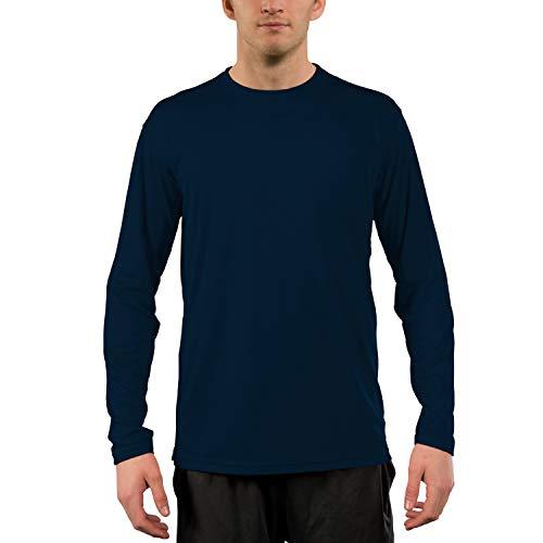 Vapor Apparel Men's UPF 50+ UV Sun Protection Performance Long Sleeve T-Shirt Small Navy (Best Long Sleeve Tees)