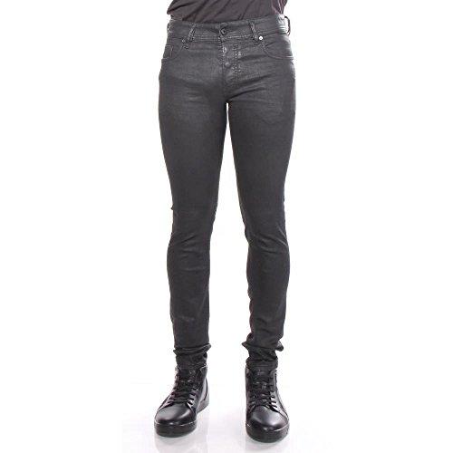 (Diesel Men's Sleenker Trousers in Black/Denim 663Q, 40 X 32)