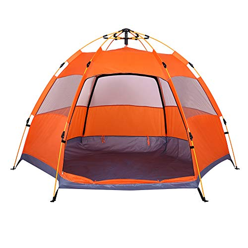 Lw Family Tent 3-4 Person Camping Tent, Dome Tent Instant Au