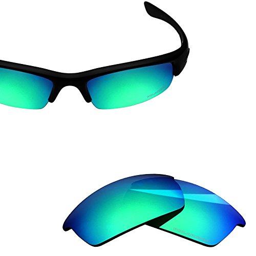 BlazerBuck Anti-salt Polarized Replacement Lenses for Oakley Bottlecap - Emerald - Bottle Cap Lenses Oakley