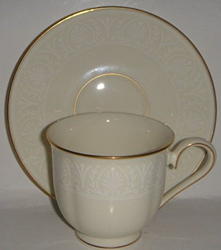 Lenox Courtyard Gold Cup & Saucer (Lenox Courtyard Gold Ivory China)