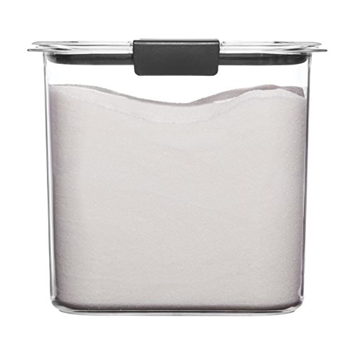 - Rubbermaid Brilliance Pantry Airtight Food Storage Container, BPA-Free Plastic, 12 Cup