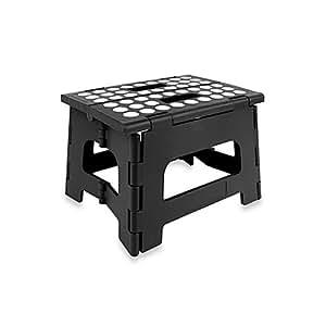 Amazon Com Kikkerland 174 Easy Folding Step Stool Black