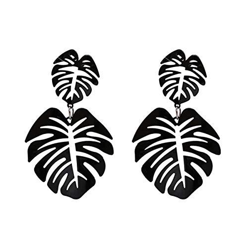 Aolly Earrings For Women Girls Statement Palm Leaf Earrings Resin monstera Drop Dangle Earrings Fashion Jewelry - Tree Palm Acrylic