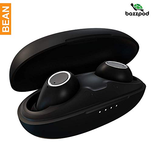 bazzpod Bean True Wireless Earbuds with BT v5.0, IPX 4 Water and Sweat Resistance, Upto 20hrs Total Playback, Deep & Ric