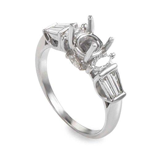 Diamond Mounting Gold (Natalie K Lovely 14K White Gold Diamond Mounting Ring NAK41-062813)