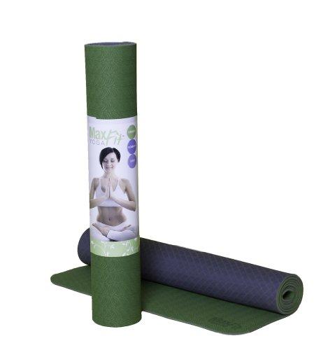 Cheap Maximum Fitness Gear Premium MaxFit UltraLite Yoga Mat (Regular & Hot Yoga) (Green)