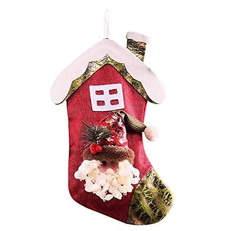 Doitsa Calcetines, Techo, Clásico Exquisito, Árbol de Navidad Decorado Ventana Cabecera, Almacenamiento