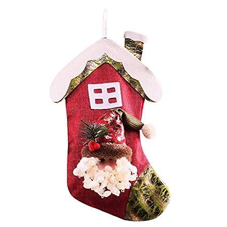 Doitsa Calcetines, Techo, Clásico Exquisito, Árbol de Navidad Decorado Ventana Cabecera, Almacenamiento (Rojo): Amazon.es: Hogar