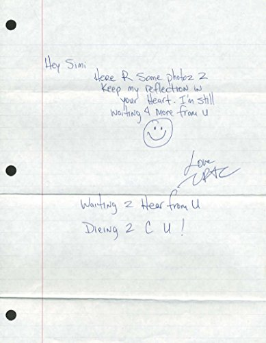 Tupac Shakur 2pac Signed Autographed Hand Written Jail 8×10 Letter JSA