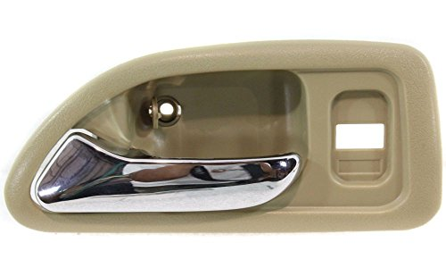 Evan-Fischer EVA18772041838 New Direct Fit Interior Door Handle for ACCORD 94-97 FRONT LH Inside Chrome Biege Sedan/Wagon (LX – USA Built / EX/EX-R/SE model) Replaces OE# 72165SV4003ZE