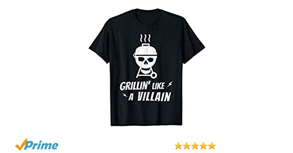46451b2fcfe Amazon.com  Grilling T Shirts Men Cool Father s Day Skull Grill T Shirt   Clothing