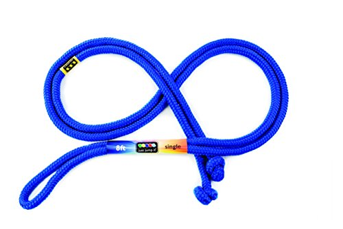 Just Jump It 8 Foot Single Jump Rope – Active Outdoor Youth Fitness – Blue For Sale