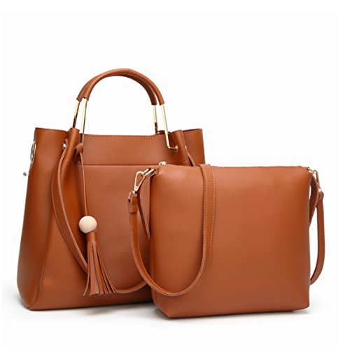 Kervinzhang Borse Simple Brown Donna Borsa Work Zipper Casual Wild Day Borsa Green To Lady aq5xwFnw6