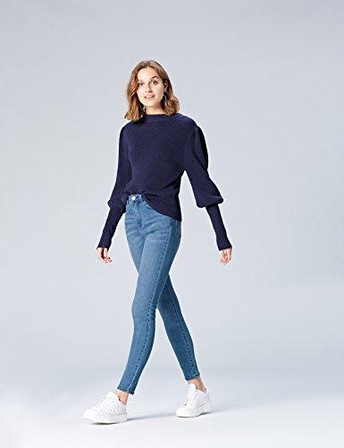Women's High Skinny Light Blue FIND Waist Wash Jeans OxwT66ndW