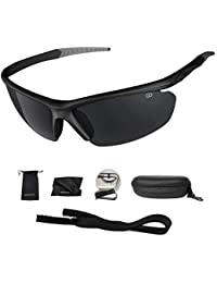 Polarized UV400 Sport Sunglasses Anti-Fog Ideal for...