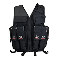 Made to keep you cool, comfortable and prepared for anything, the black Maddog Tactical Paintball Attack Vest is the perfect pick for the tournament-level player. This paintball vest holds six standard-sized 140-round pods, with two pod pouch...