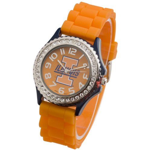 (ILLINOIS FIGHTING ILLINI WATCH-UNIVERSITY OF ILLINOIS LADIES JELLY WATCH)