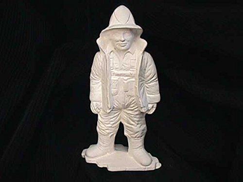 Ceramic bisque unpainted firefighter 8