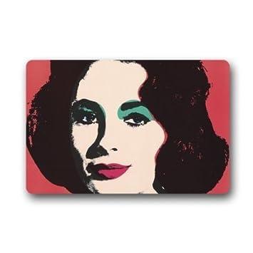 SENL Andy Warhol Pop Art Actress Elizabeth Taylor Custom Doormat  (23.6u0026quot;x15.7u0026quot Great Pictures