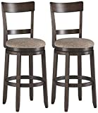 french country bar stools Signature Design By Ashley - Drewing Bar stools - Bar Height - Open Back - Set of 2 - Brown