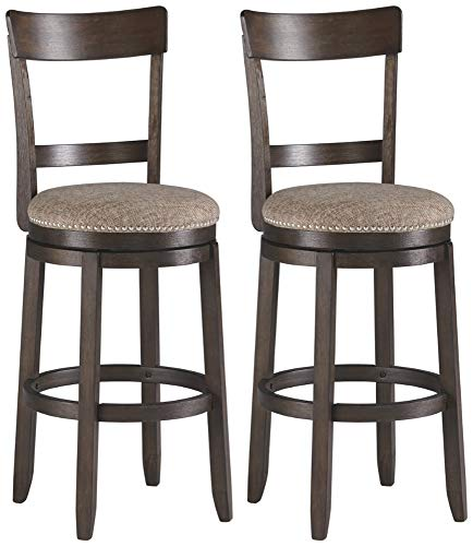 Signature Design By Ashley - Drewing Bar stools - Bar Height - Open Back - Set of 2 - Brown