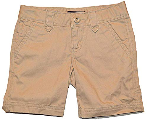 GAP Kids Girls Khaki Flat Front Low Rise School Uniform Shorts 12
