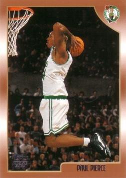 1998 / 99 Topps Basketball #135 Paul Pierce Rookie Card