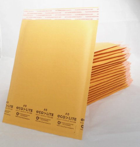 #0 Ecolite Bubble Mailers 20 ct