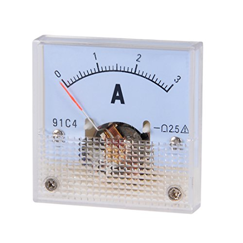 uxcell 91C4-A Analog Current Panel Meter DC 3A Ammeter for Circuit Testing Ampere Tester Gauge 1 PCS - Analog Electrical Circuit Multi Tester