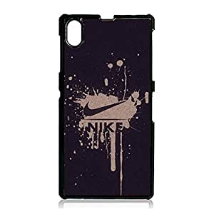 Vintage Fashion Nike Cover Phone Case for Sony Xperia Z1 Brand Logo Series Flexible Cover Case the Logo of Nike